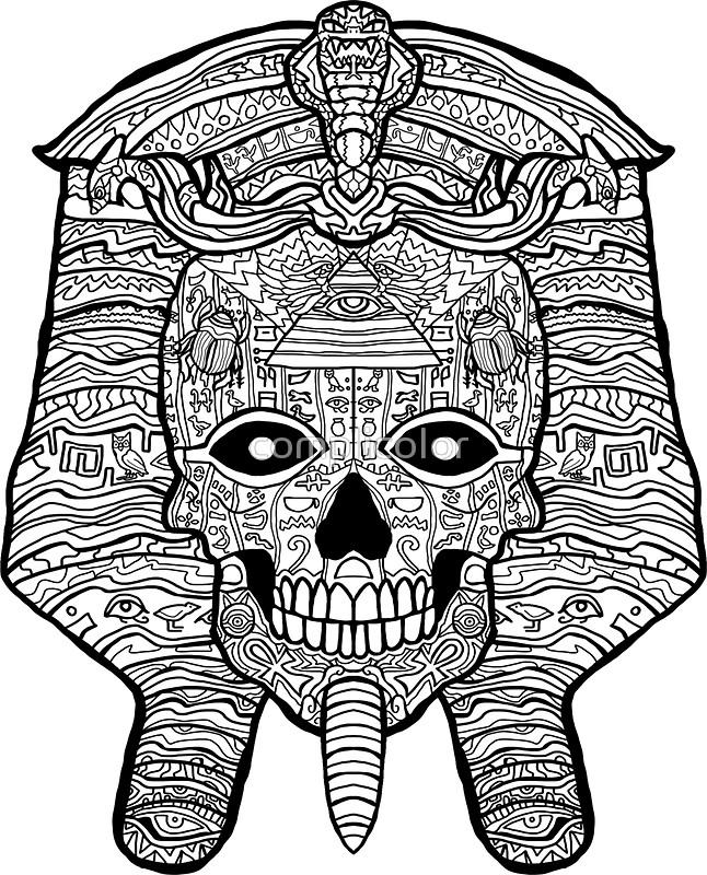 646x800 Ancient Egyptian Pharaoh Skull