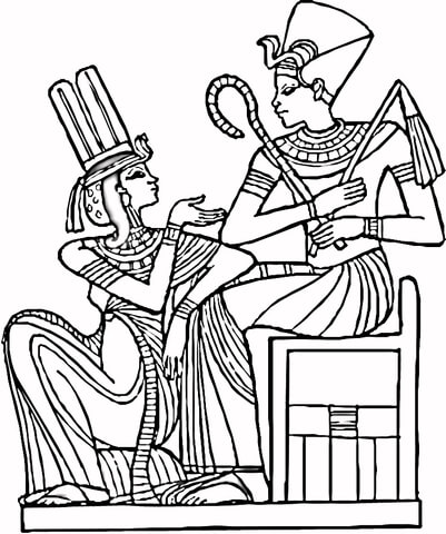 401x480 Egyptian Pharaohs Coloring Page Free Printable Coloring Pages