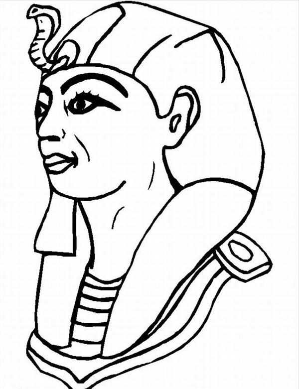600x781 Pharaoh Coloring Pages 10 A Typical Figure Of Pharaoh From Ancient