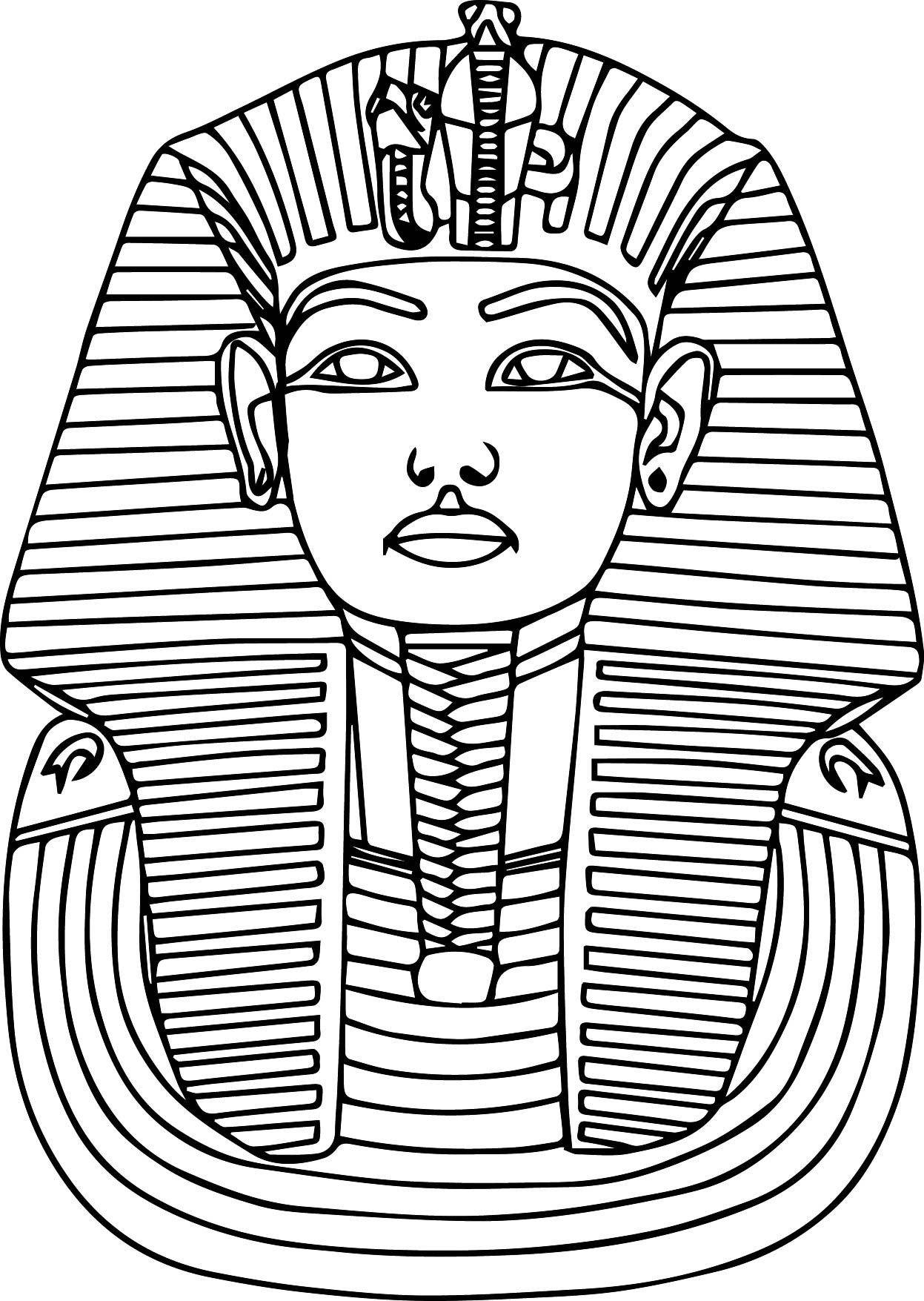 1247x1755 Printable Ancient Egypt Pharaoh Coloring Pages Education
