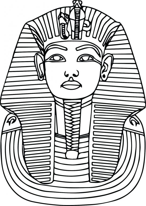 618x870 Printable Ancient Pharaoh Coloring Pages 15 Extraordinary Egypt
