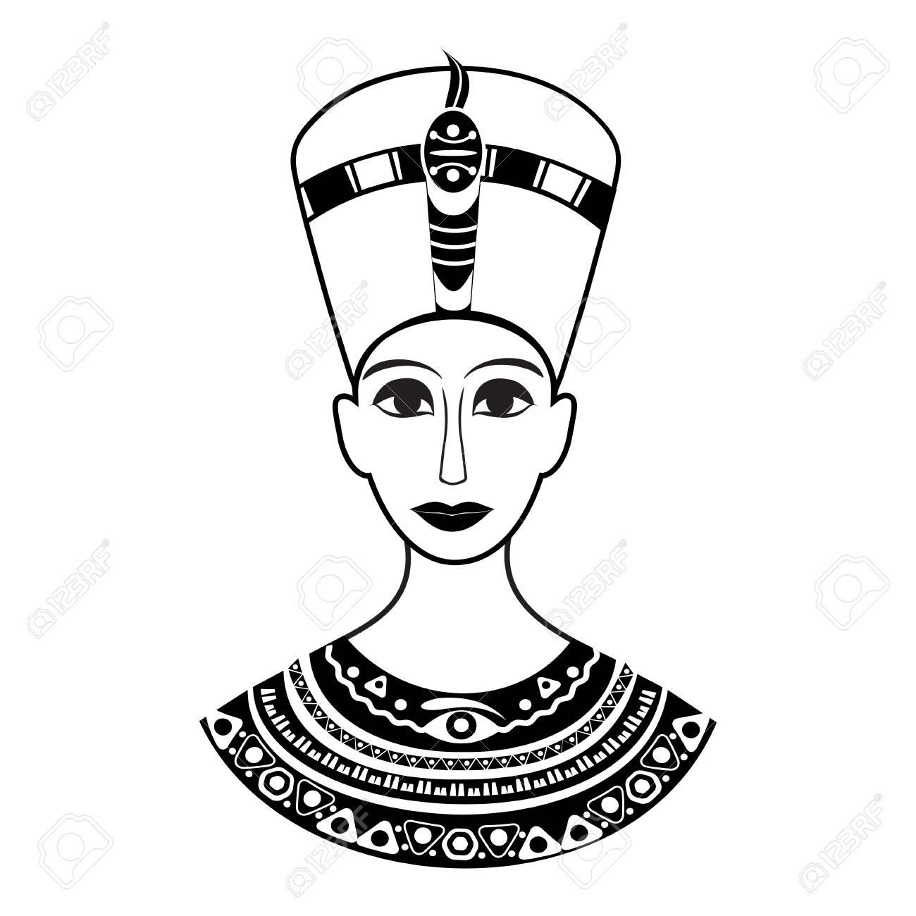 1300x1300 The Bust Of The Ancient Egyptian Pharaoh Cleopatra Or Nefertiti
