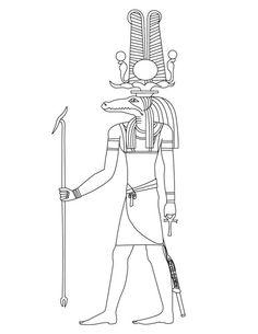 236x305 Coloriages Egypte Isis Schablounen Egyptian