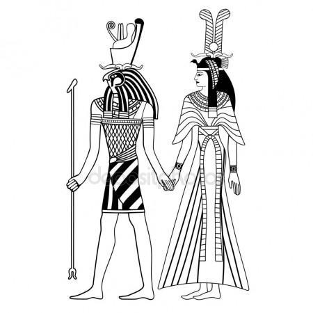 450x450 Egyptian Goddess Isis Stock Vector Frenta