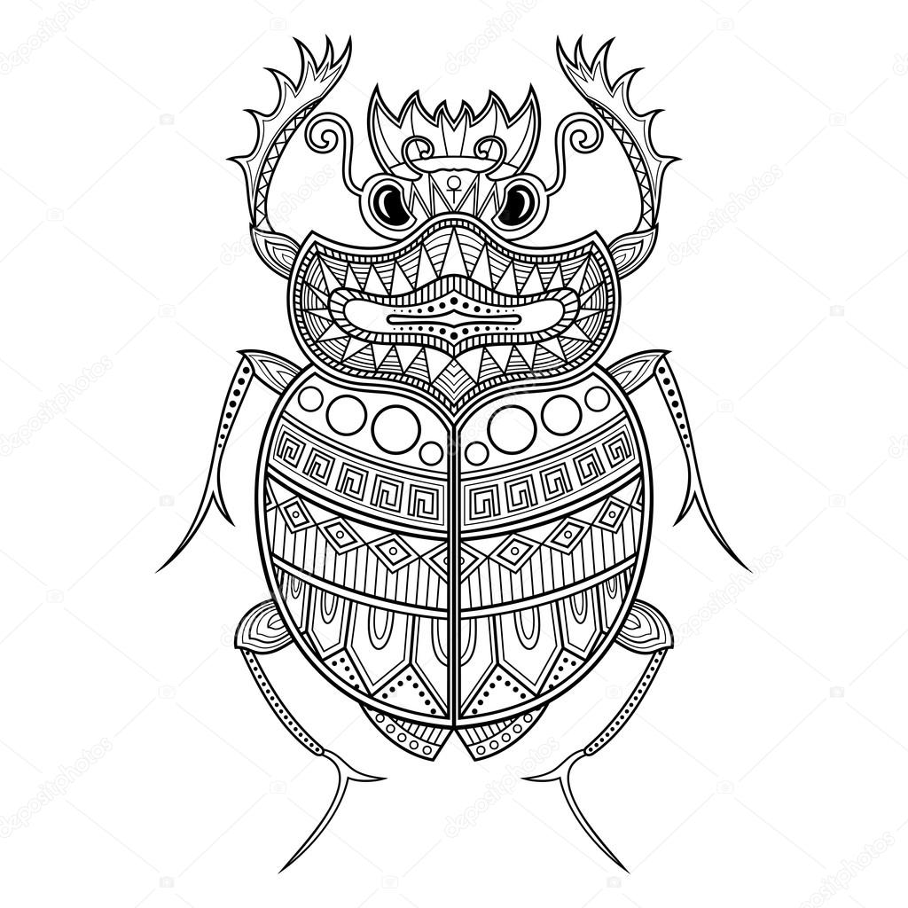 cea1895f1d78c Egyptian Scarab Beetle Drawing at GetDrawings.com   Free for ...
