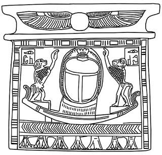 Egyptian Scarab Drawing