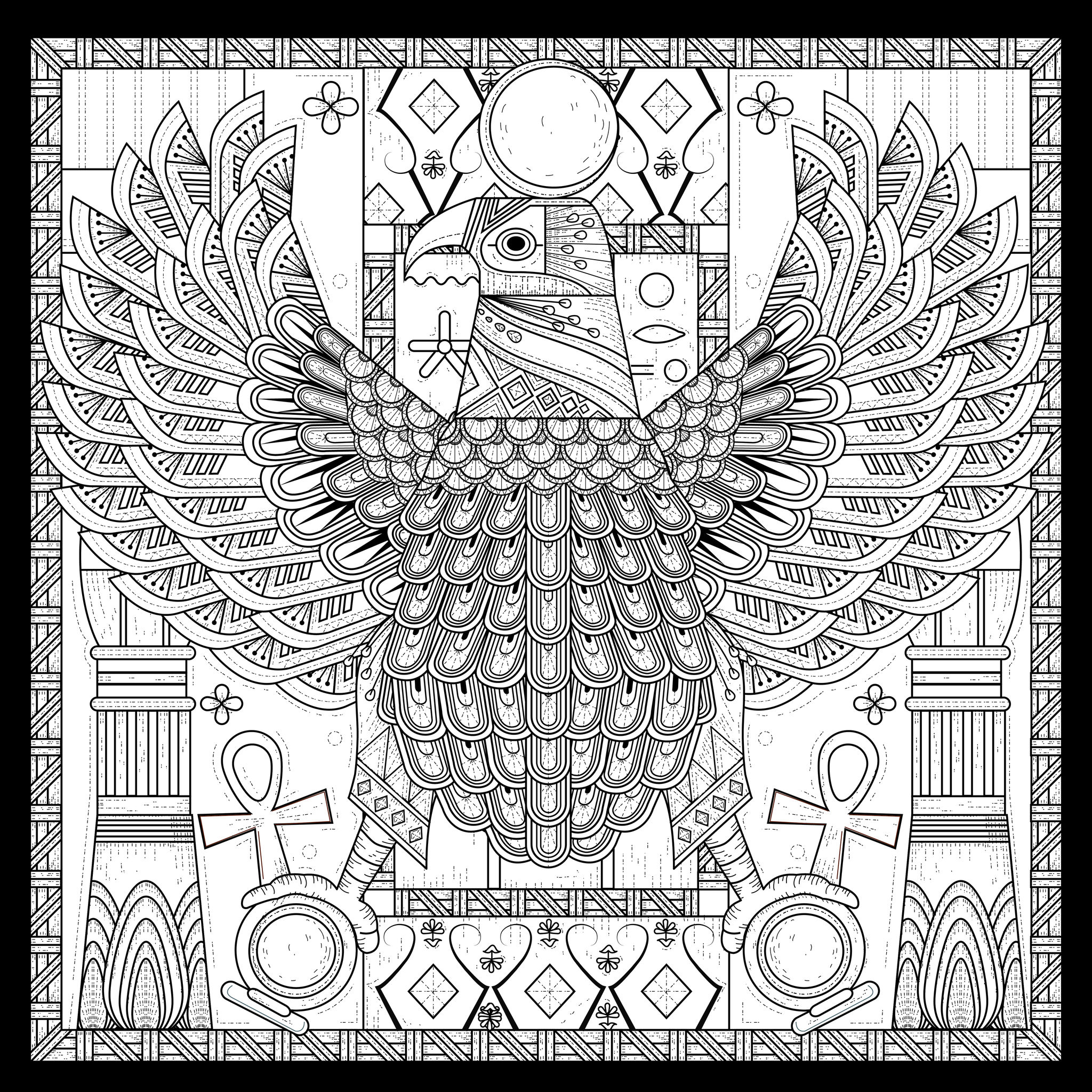 2048x2048 Egypt Eagle Egyptian Style With Symbols By Kchung Egypt