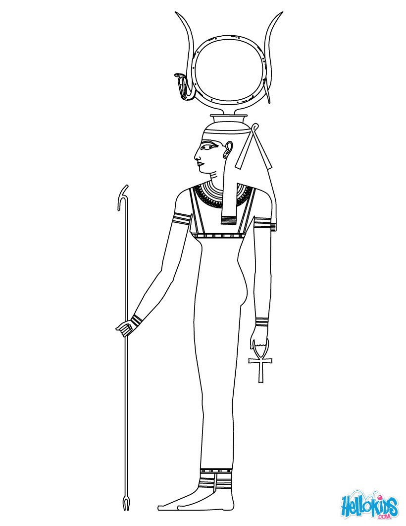 820x1060 Hathor Goddess Of Egypt Coloring Pages