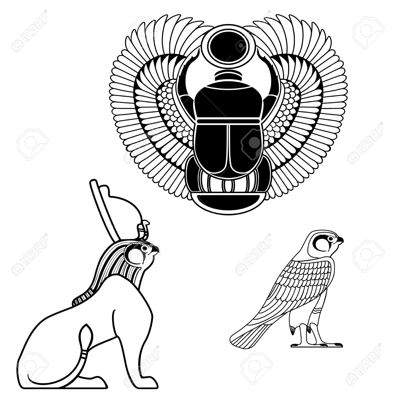 Egyptian Style Drawing At Getdrawings Free For Personal Use
