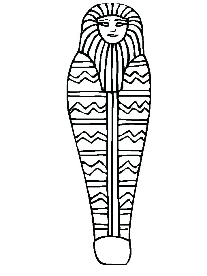 718x957 Egyptian Mummy Coloring Pages Coloring Page Outline Mummy Sample