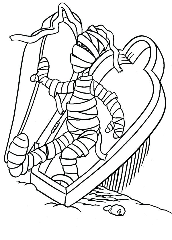 600x836 Egyptian Mummy Coloring Pages Mummy Tomb Pencil And In Color Media