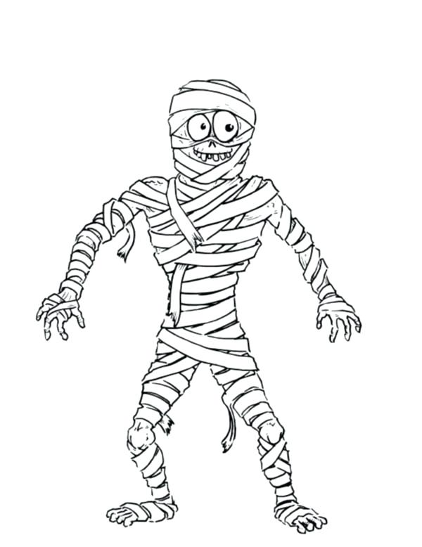600x778 Grin Mummy Looking At Beside You Free Coloring Page Download