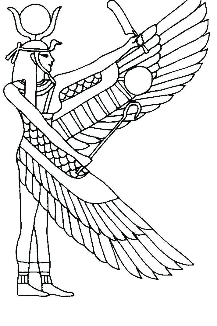 712x1072 Pharaoh Coloring Pages Ii Statue For Children King Tuts Tomb Page
