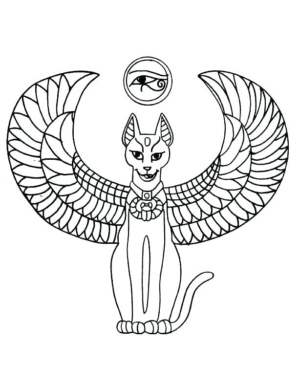 612x792 King Tut Coloring Page Murs