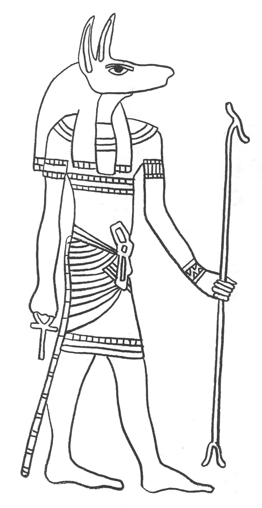 1017x1967 Ancient Egyptian Gods And Goddesses Coloring Pages Egyptian Art