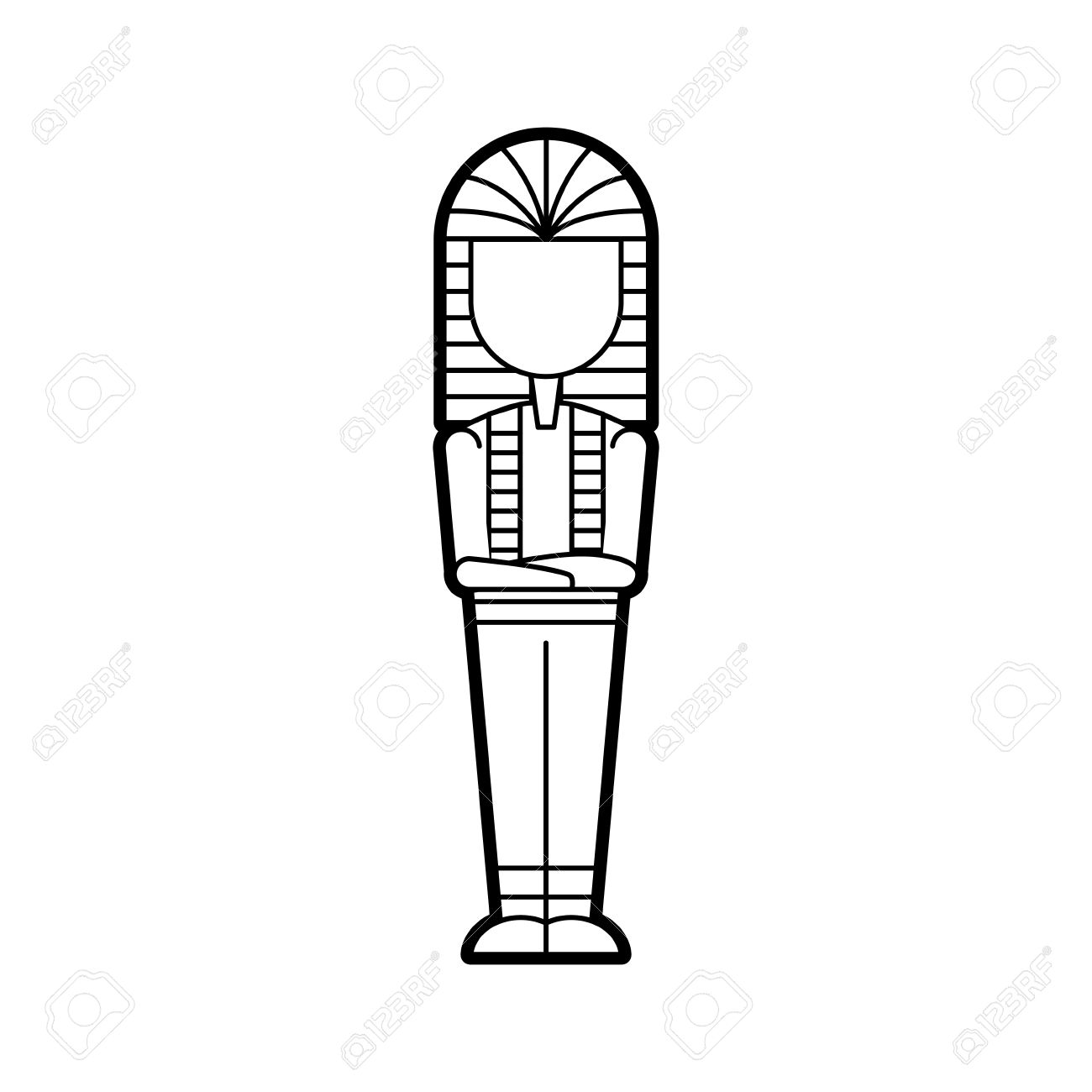 1300x1300 Ancient Egyptian Tomb Icon Vector Illustration Design Royalty Free