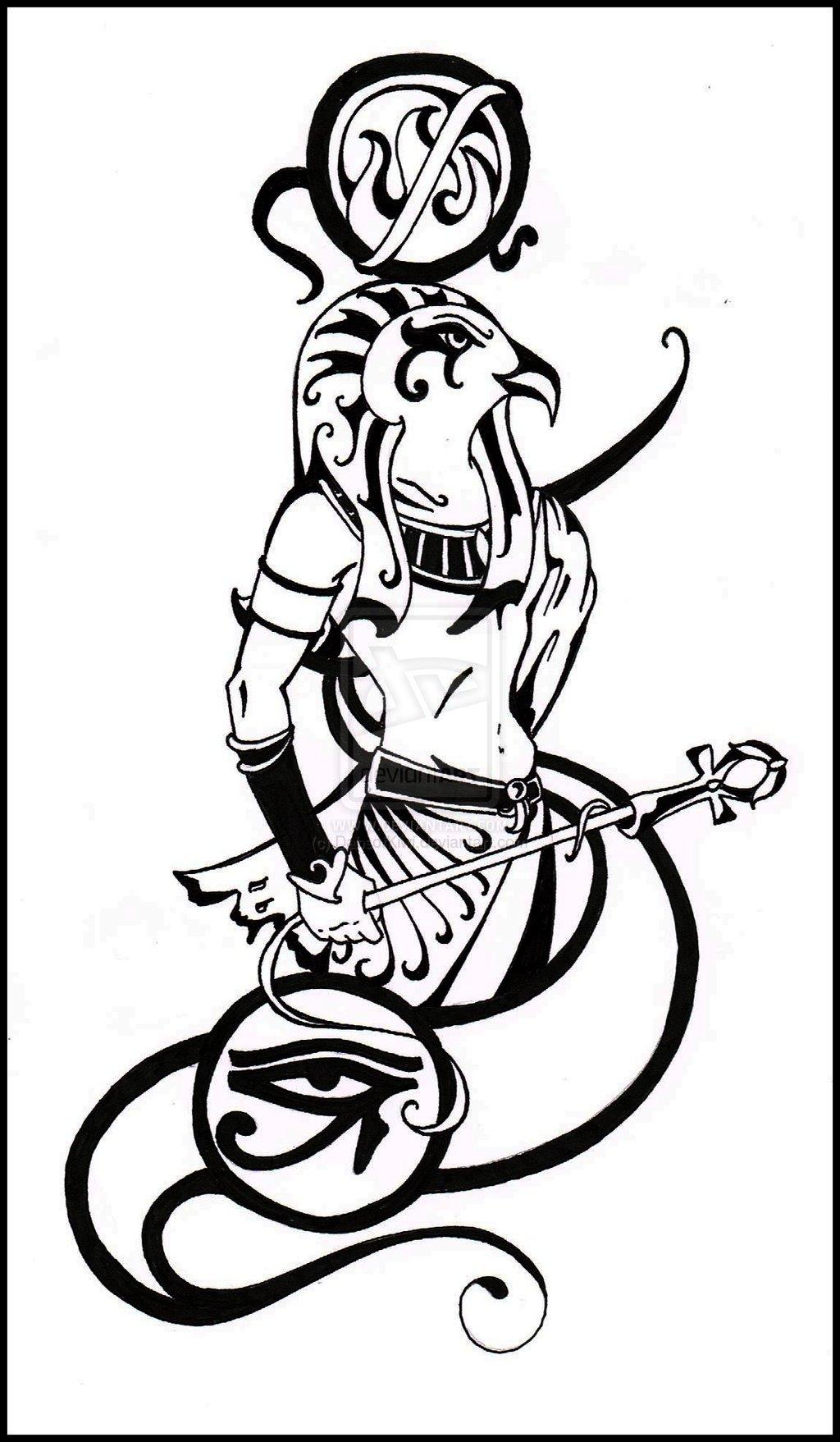 1024x1757 Egyptian God Ra Drawing The Sun God, Ra. By Dabsofkiwi Africa