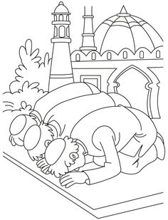 236x309 Eid Prayer Coloring Page Download Free Eid Prayer Coloring Page