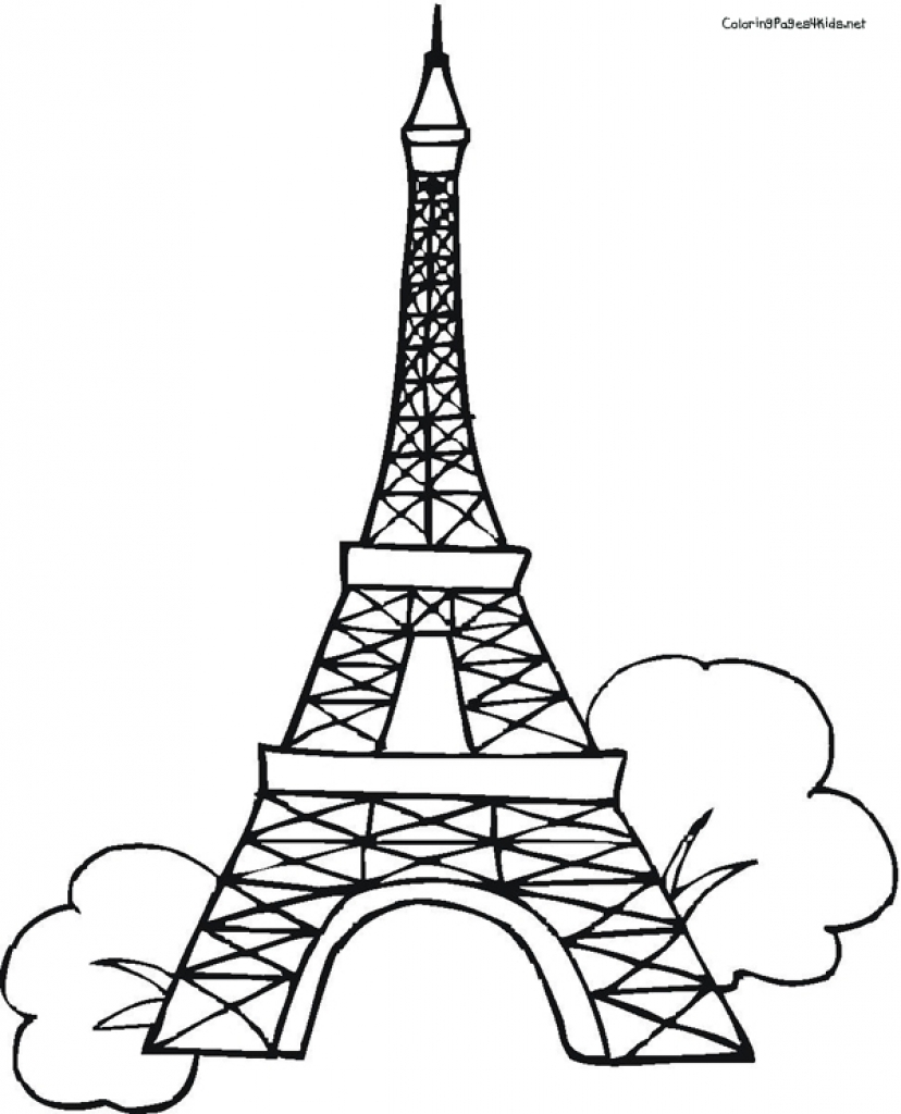 828x1024 Eiffel Tower Coloring Pages