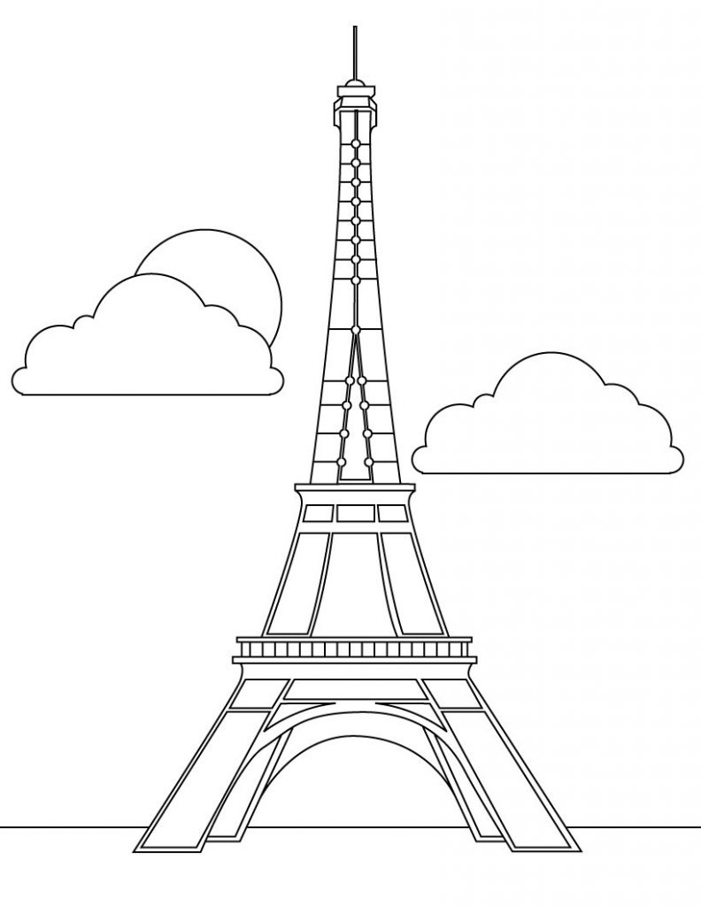 792x1024 Eiffel Tower Coloring Pages
