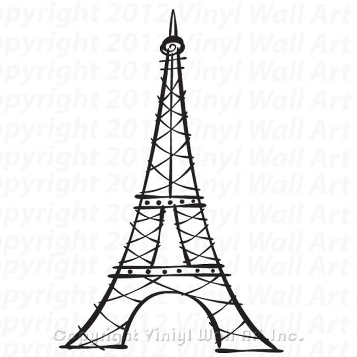 700x700 tower vinyl wall decal