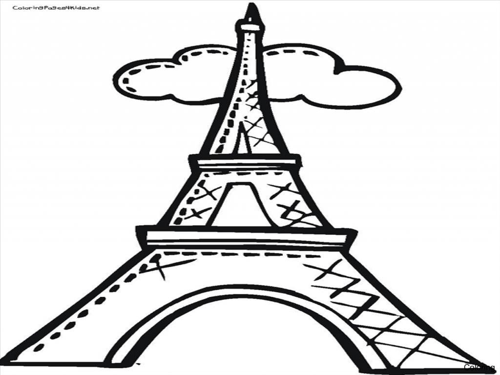 Eiffel Tower Cartoon Drawing at GetDrawings.com | Free for personal ...