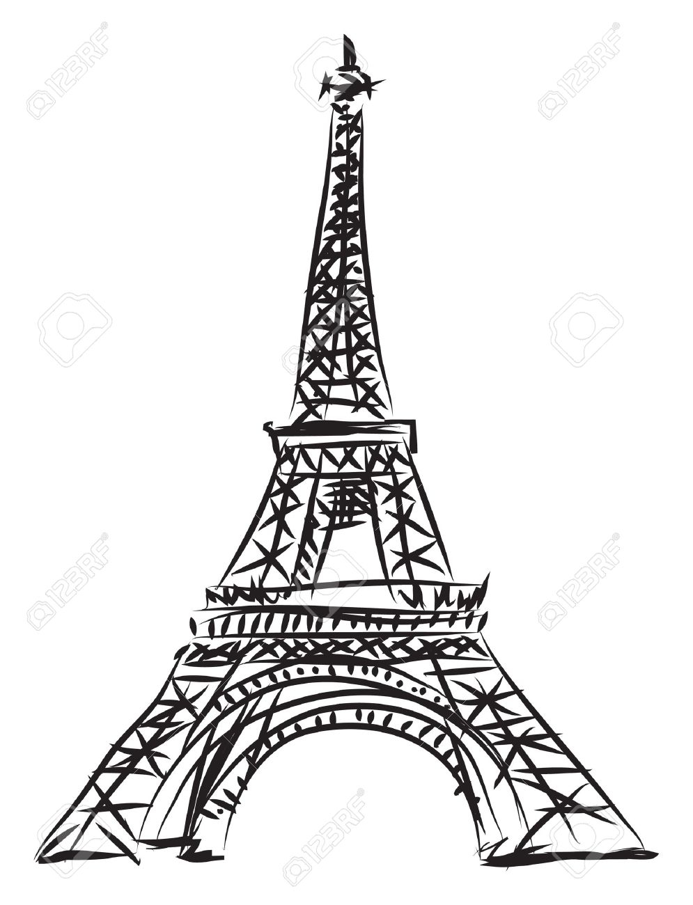 995x1300 Eiffel Tower Line Drawing How To Draw Eiffel Tower