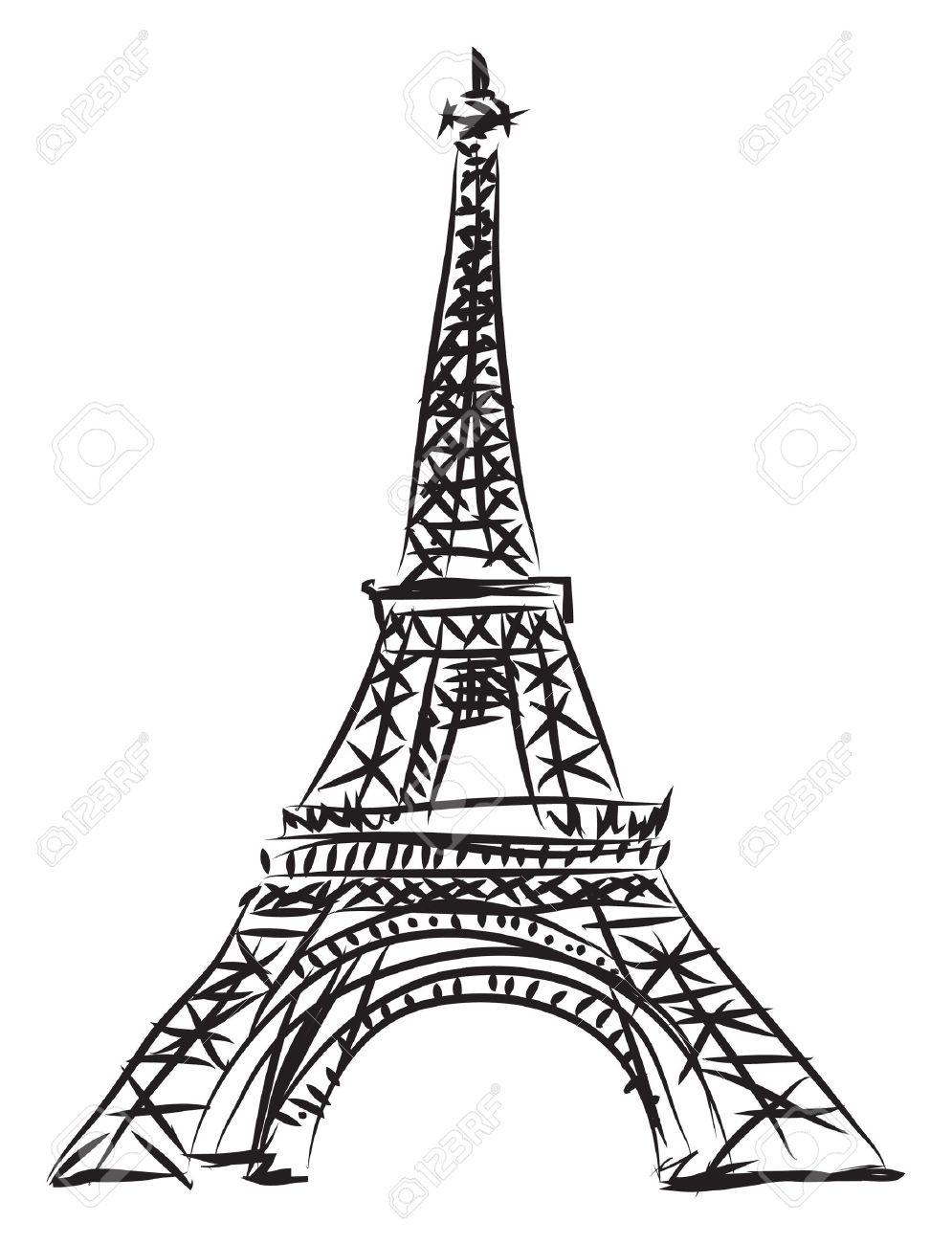 995x1300 Eiffel Tower Line Drawing How To Draw Eiffel Tower