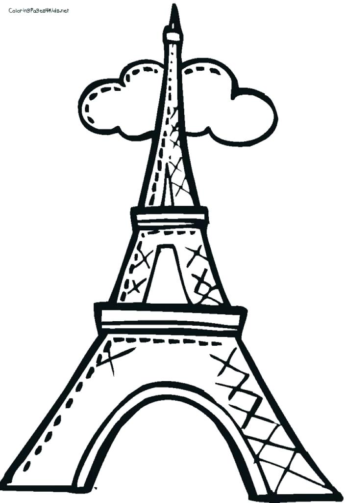 706x1024 Unique Eiffel Tower Coloring Pages Free Download Sheet Easy