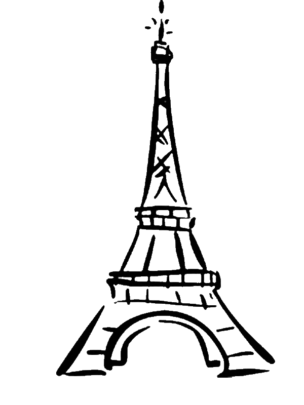 600x800 World Destination Eiffel Tower Coloring Page