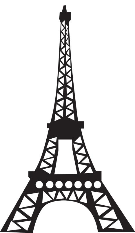 466x800 Paris Eiffel Tower Clipart