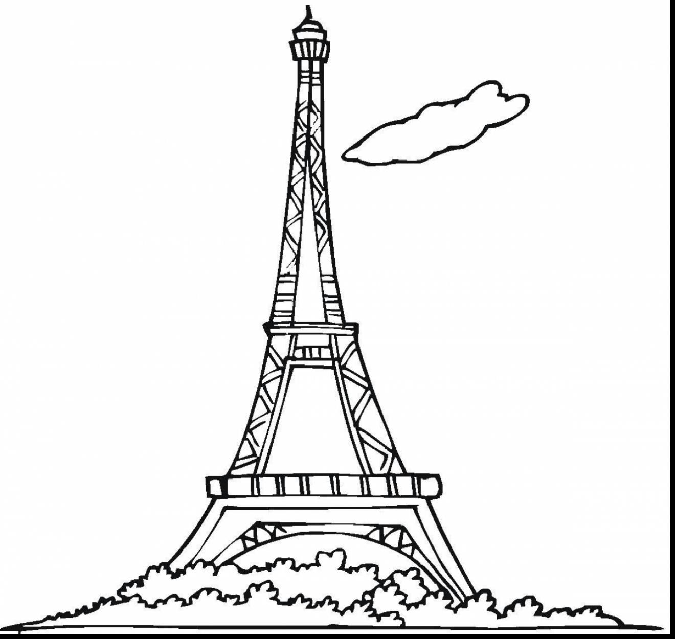 coloring pages eifell tower | Architecture Drawings | Free high quality drawings at ...