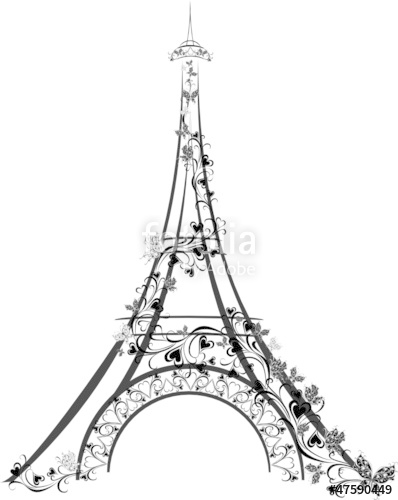 398x500 Eiffel Tower, Paris, France Stock Image And Royalty Free Vector