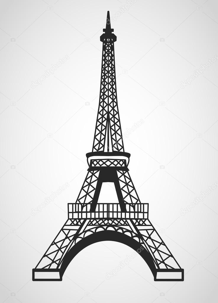 737x1024 Eiffel Tower Stock Vector Bastinda18
