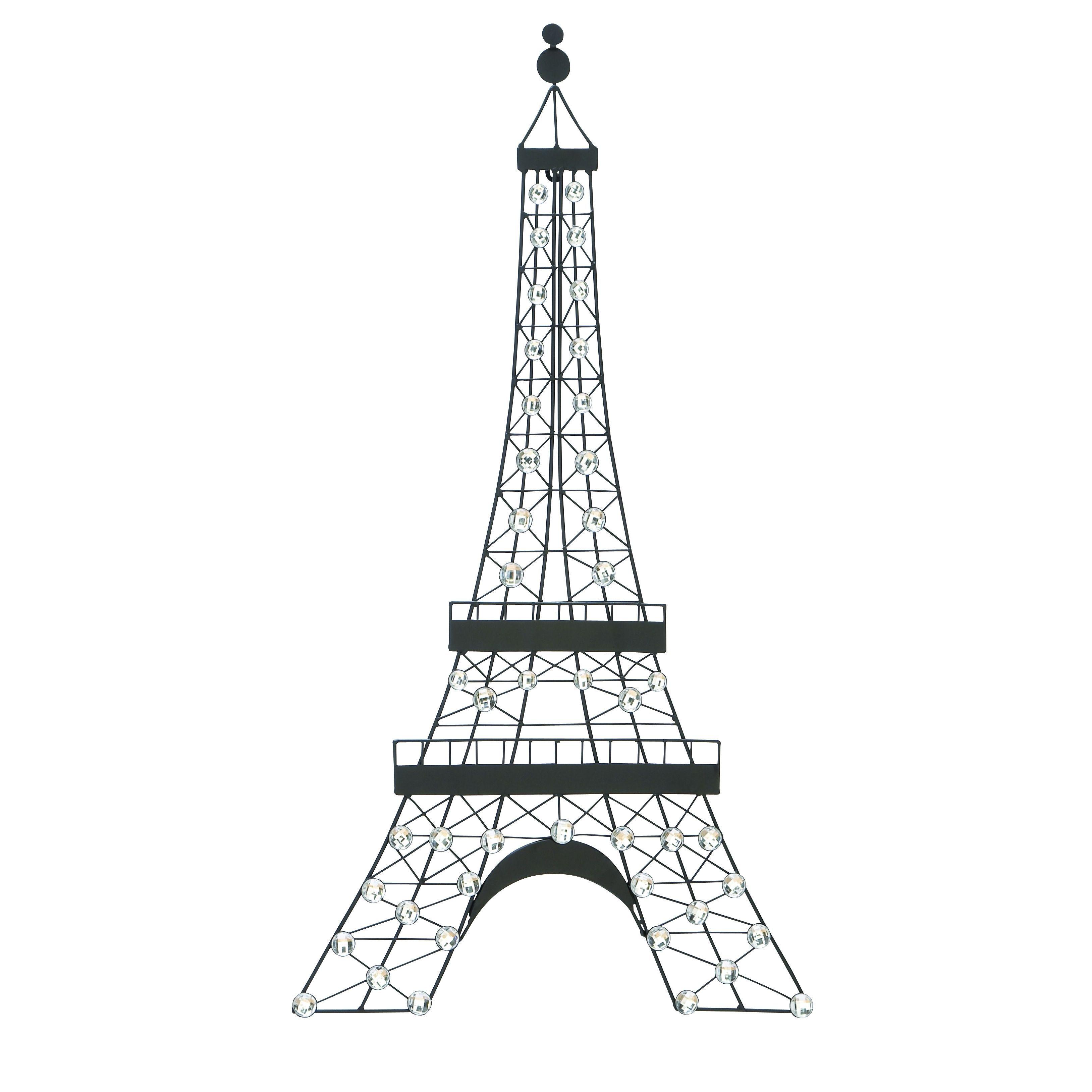 3256x3256 Elegant Diamond Beaded Eifel Tower Wall Decor (Dcor), Multi (Metal