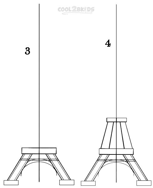 490x600 How To Draw The Eiffel Tower Step 2 Drawing Tower