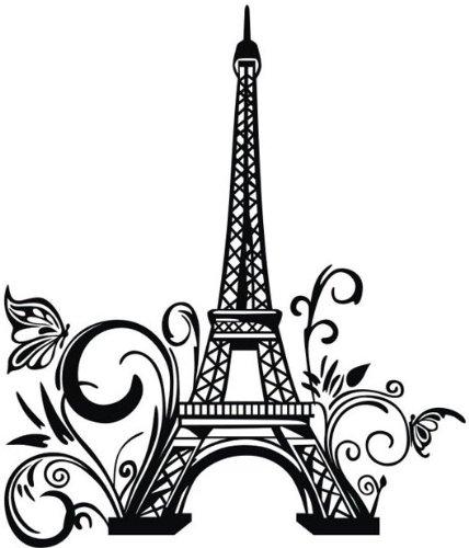 428x500 23 39 Tall Paris Eiffel Tower Pattern Wall Decal City Sticker