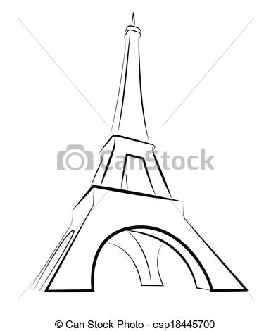 385x470 Sketch Paris Eiffel Tower Clip Art Vector Graphics. 960 Sketch