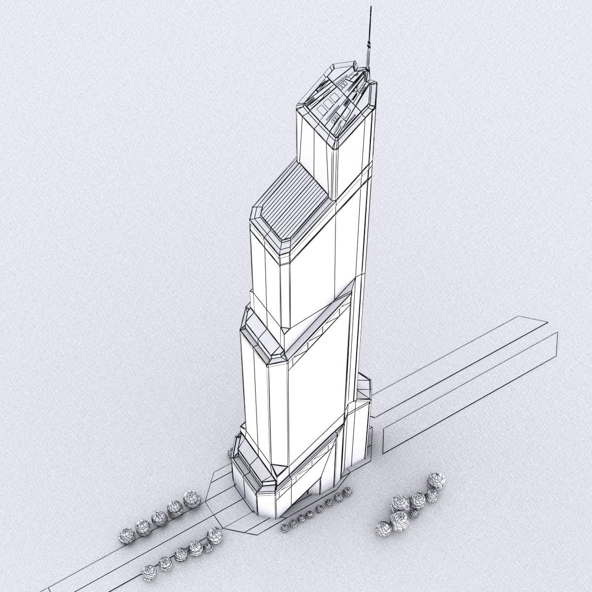 1200x1200 Mercury City Tower Scyscraper 3d Model