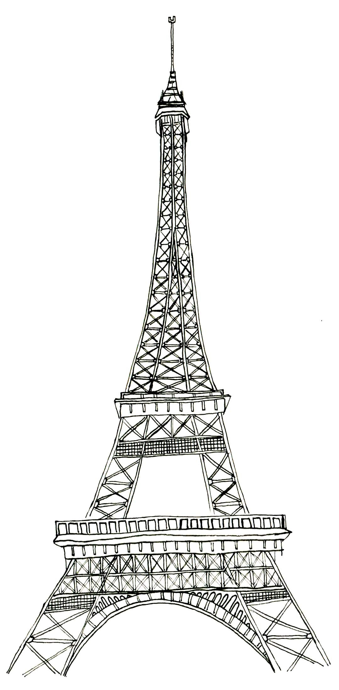 1079x2196 Captivating Eiffel Tower Coloring Pages Colorings Me
