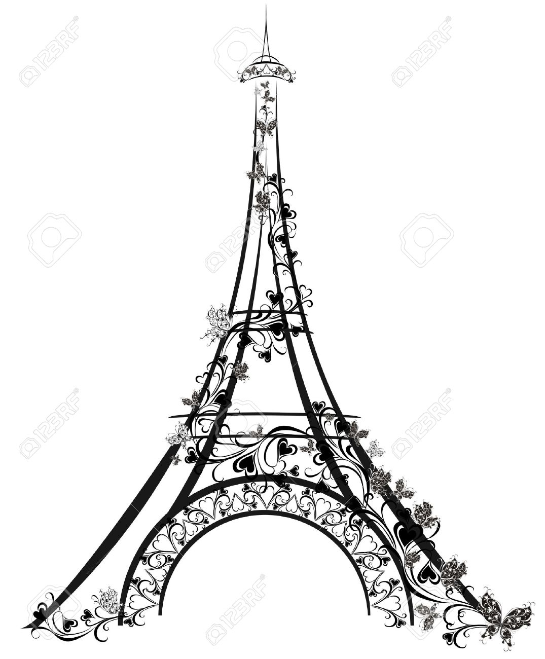 1075x1300 Eiffel Tower, Paris, France Royalty Free Cliparts, Vectors, And