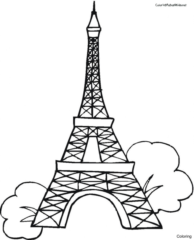 Eiffel Tower Drawing Black And White at GetDrawings | Free ...