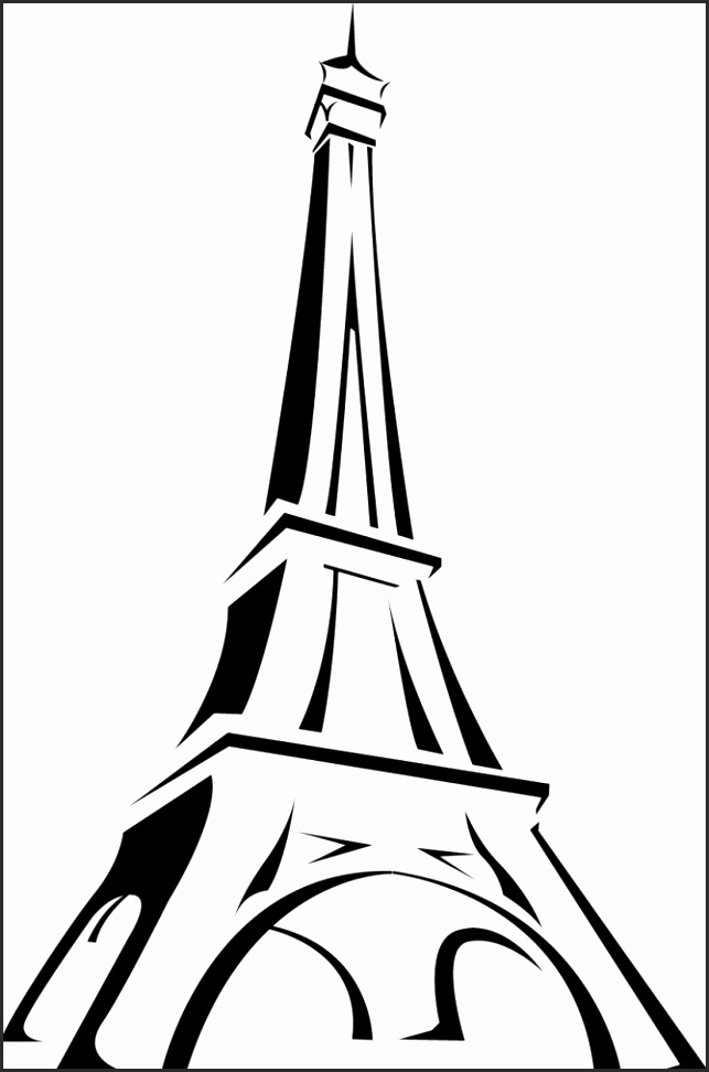 Eiffel tower drawing black and white at getdrawings free for 643x972 simple eiffel tower drawing jofuf beautiful eiffel tower black and altavistaventures Choice Image