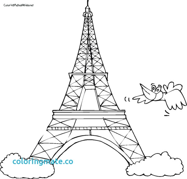 600x576 Eiffel Tower Coloring Pages Unique Eiffel Tower Easy Coloring