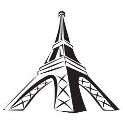 250x250 Eiffel Tower Clipart Image