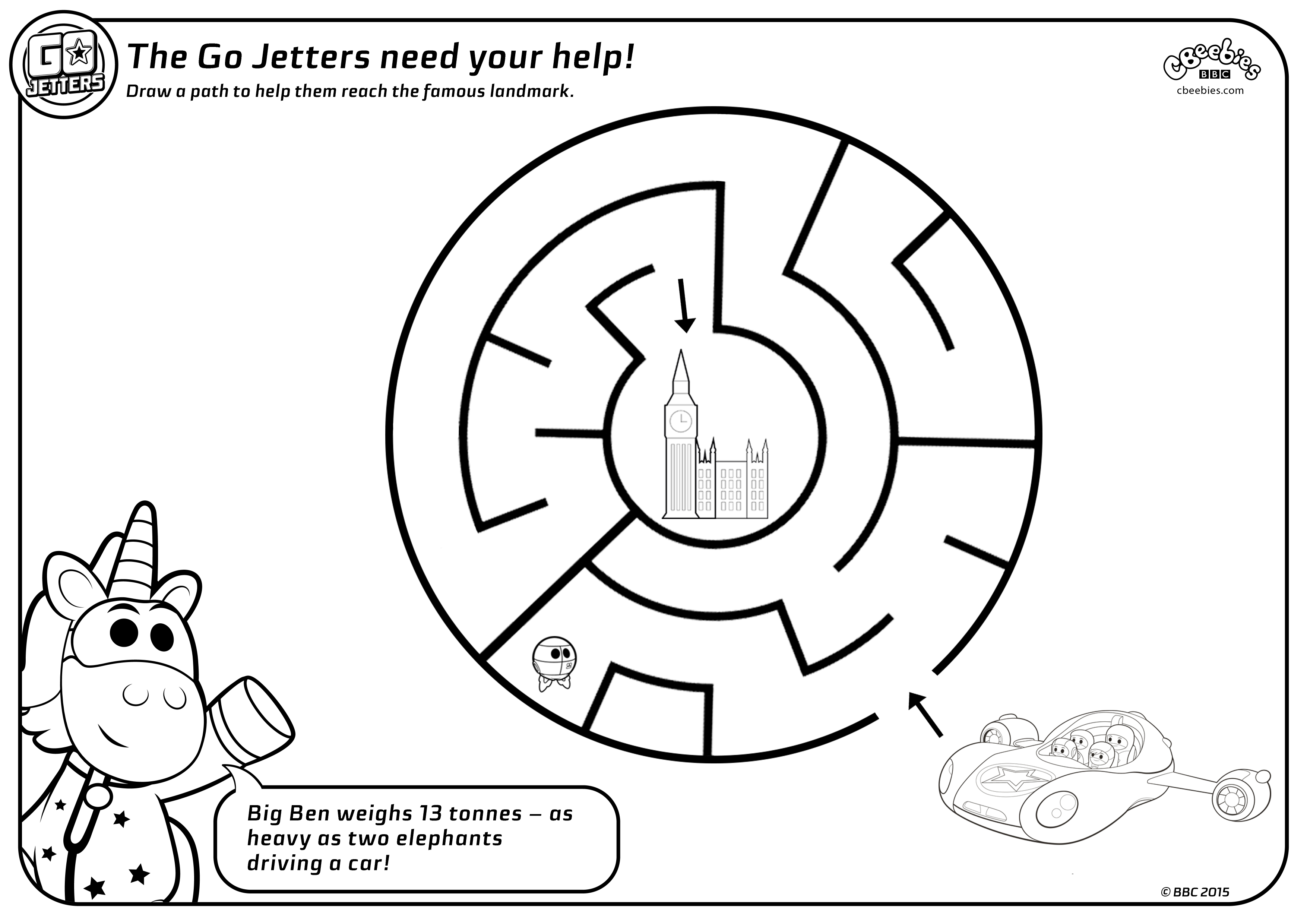 3508x2480 Maze Sheets Go Jetters