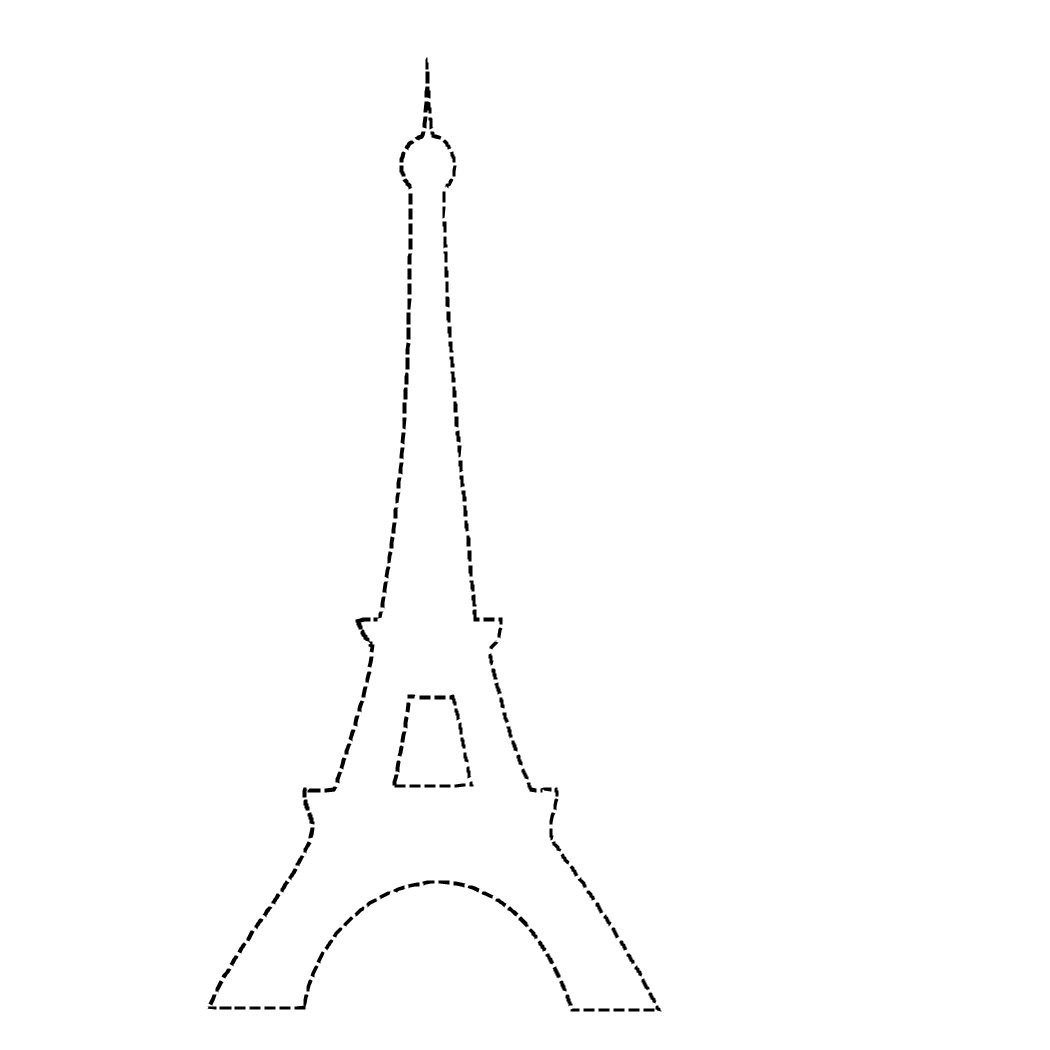 1050x1050 Paris Eiffel Tower Coloring Pages Download And Print For Kids