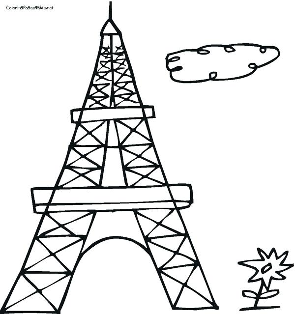 Eiffel Tower Drawing Outline at GetDrawings | Free download