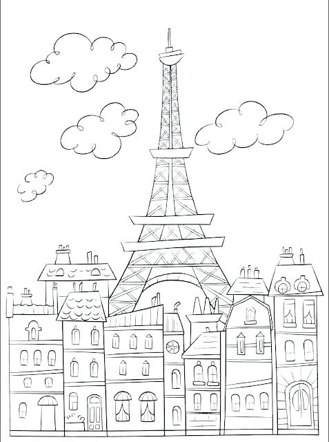 477x640 Eiffel Tower Coloring Pages Printable Tower Coloring Pages France
