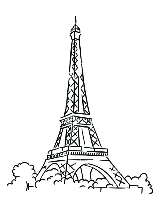 508x667 Eiffel Tower Coloring Pages Tower Printable Coloring Pages Eiffel